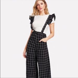 Pants - NWOT striped overalls